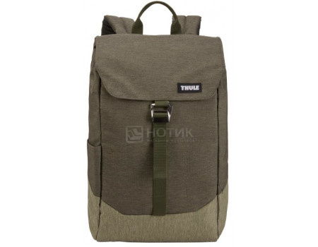 "Рюкзак 14"" Thule Lithos Backpack 16L, Полиэстер, Forest Night/Lichen, Коричневый/Бежевый 3203822 фото"