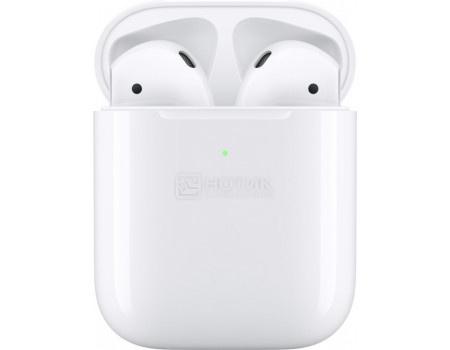 Гарнитура беспроводная Apple AirPods 2 with Wireless Charging Case 2019 (в футляре с возможностью беспроводной зарядки) MRXJ2RU/A, Белый