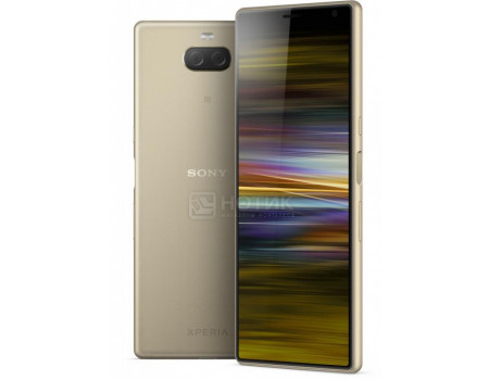 "Смартфон Sony Xperia 10 Dual Plus Gold (Android 9.0 (Pie)/SDM636 1800MHz/6.50"" 2520x1080/4096Mb/64Gb/4G LTE ) [1318-5924]"