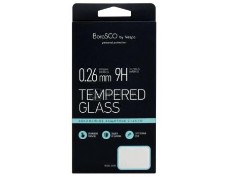 Защитное стекло BoraSCO для смартфона Xiaomi Redmi Note 6 Pro, Прозрачный (черная рамка) 35084