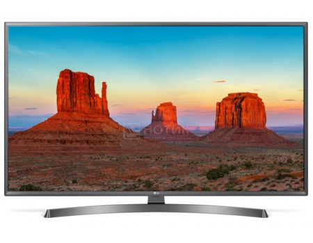 Телевизор LG 43 LED UHD IPS Smart TV (webOS) Звук (20 Вт (2x10 Вт))  4xHDMI 2xUSB 1xRJ45 Серебристый 43UK6750PLD.
