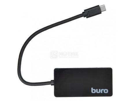 USB-хаб Buro USB Type-C на 4xUSB 3.0, 4 порта, BU-HUB4-0.2-U3.0 Черный фото