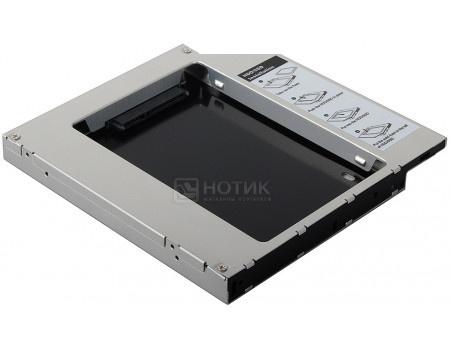 Переходник Optibay AgeStar SSMR2S для установки в ноутбук/моноблок SSD/HDD SATA вместо DVD-привода (12,5mm) SSMR2S фото