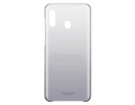 Чехол-накладка Samsung Gradation Cover для смартфона Samsung Galaxy A20 , Поликарбонат, Black, Черный, EF-AA205CBEGRU фото
