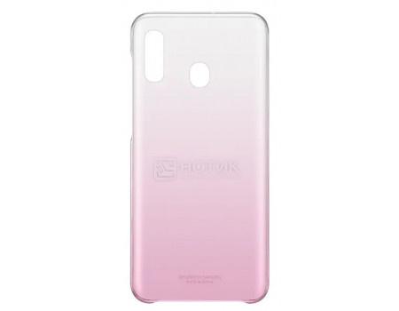 Чехол-накладка Samsung Gradation Cover для смартфона Samsung Galaxy A20 , Поликарбонат, Pink, Розовый, EF-AA205CPEGRU фото