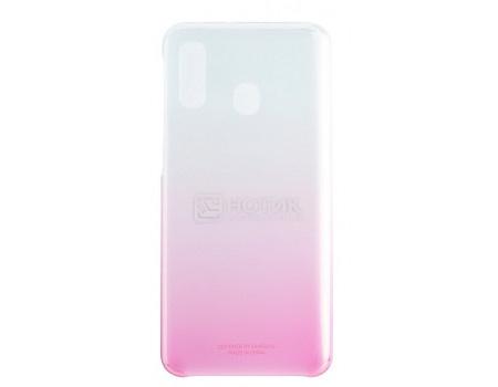 Чехол-накладка Samsung Gradation Cover для смартфона Samsung Galaxy A40 , Поликарбонат, Pink, Розовый, EF-AA405CPEGRU фото