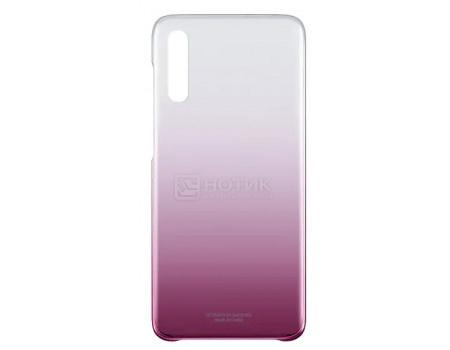 Чехол-накладка Samsung Gradation Cover для смартфона Samsung Galaxy A70 , Поликарбонат, Pink, Розовый, EF-AA705CPEGRU фото