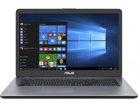 Ноутбук ASUS VivoBook 17 X705UB-GC265T (17.30 IPS (LED)/ Pentium Dual Core 4417U 2300MHz/ 4096Mb/ HDD 1000Gb/ NVIDIA GeForce® MX110 2048Mb) MS Windows 10 Home (64-bit) [90NB0IG2-M03510]