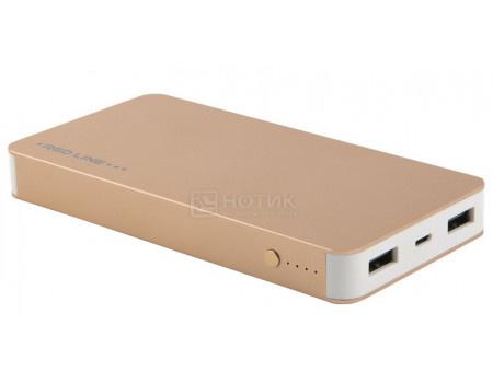 Внешний аккумулятор Red Line T2 8000 мАч, 5V/2.1А, 2xUSB, Золотистый УТ000015978 фото