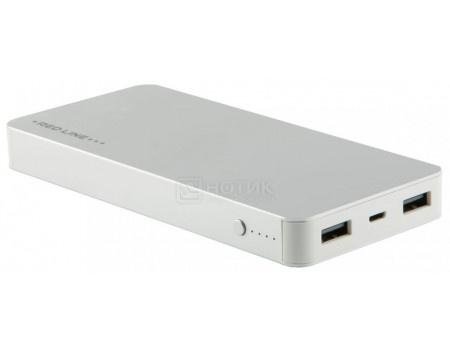 Внешний аккумулятор Red Line T2 8000 мАч, 5V/2.1А, 2xUSB, Серебристый УТ000015722 фото