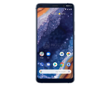 "Смартфон Nokia 9 Pureview 128Gb Blue (Android 9.0 (Pie)/SDM845 2800MHz/5.99"" 2280x1080/6144Mb/128Gb/4G LTE ) [11AOPL01A07]"