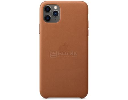 Чехол-накладка Apple Leather Case Saddle Brown для iPhone 11 Pro Max MX0D2ZM/A, Кожа, Коричневый фото