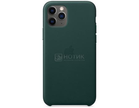 Чехол-накладка Apple Leather Case Forest Green для iPhone 11 Pro MWYC2ZM/A, Кожа, Темно-зеленый фото
