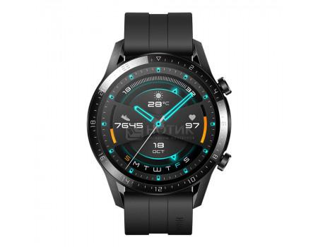 Смарт-часы Huawei Watch GT2 Latona-B19S 46mm Sport Matte Black Bluetooth 455 мАч Черный 55024335 6901443320554.