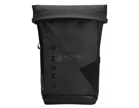 """Рюкзак 15,6"""", HP OMEN Transceptor Rolltop Backpack 7MT83AA, Водостойкая ткань, Черный"""