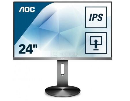 """Монитор 23,8"""" AOC I2490PXQU/BT, FHD, IPS, HDMI, DP, VGA, 4xUSB 3.0 Серый I2490PXQU/BT фото"""