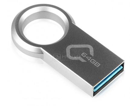 Флешка Qumo Ring 64Gb, USB 3.0, Серый QM64GUD3-Ring