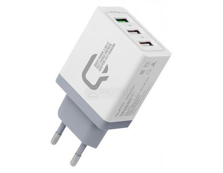 Сетевое зарядное устройство Qumo Charger 0019, 3xUSB (2.4A/ 2.1A/ 2.1A) Белый Charger0019BWh фото