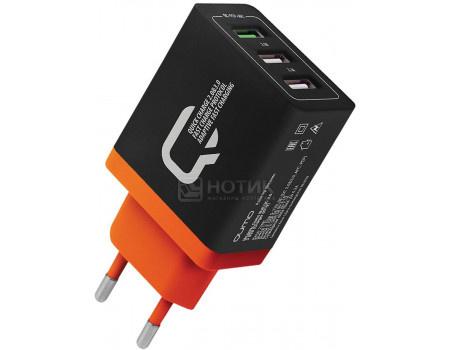 Сетевое зарядное устройство Qumo Charger 0019, 3xUSB (2.4A/ 2.1A/ 2.1A) Черный Charger0019Black фото