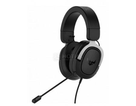 Гарнитура проводная ASUS TUF Gaming H3, Mini jack, Черный/Серебристый 90YH025S-B1UA00 фото