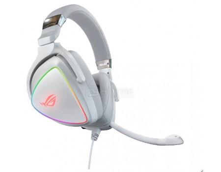 Гарнитура проводная ASUS ROG Delta White Edition, USB Type-C / USB, Белый 90YH02HW-B2UA00 фото