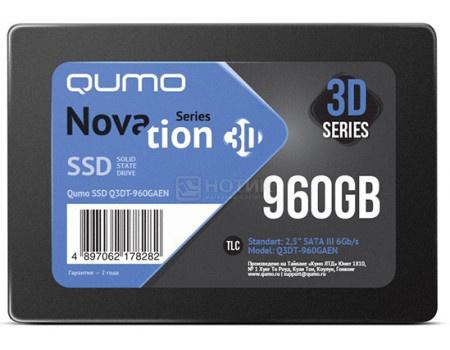 """Внутренний SSD-накопитель Qumo Novation 960GB 2,5"""" SATA-III, 3D TLC, Черный Q3DT-960GAEN фото"""