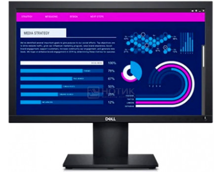 "Монитор 18.5"" Dell E1920H, WXGA, TN, VGA, DP, Черный 1920-0667"