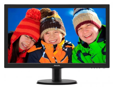 "Монитор 23,6"" Philips 243V5QHABA, FHD, MVA, HDMI, DVI, VGA, Черный 243V5QHABA/01 фото"
