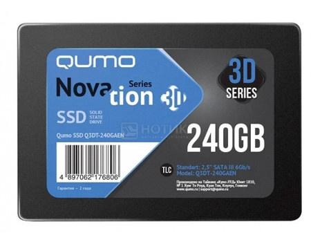 "Внутренний SSD-накопитель Qumo Novation 240GB 2,5"" SATA-III, 3D TLC, Черный Q3DT-240GPBN/GPPN OEM фото"