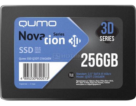 """Внутренний SSD-накопитель Qumo Novation 256GB 2,5"""" SATA-III, 3D TLC, Черный Q3DT-256GAEN фото"""