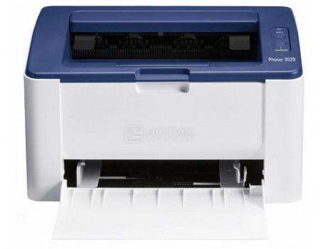 Принтер лазерный монохромный Xerox Phaser 3020BI, A4, 20стр/мин, 128Мб, USB, WiFi, Белый/Синий 3020V_BI