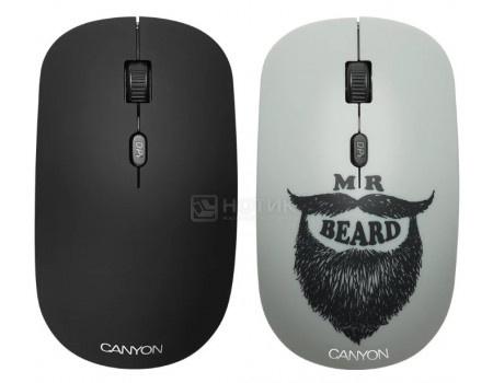 Мышь беспроводная Canyon CND-CMSW401BD, 1600dpi, Рисунок (две накладки: черный и Мистер Хипстер) CND-CMSW401BD фото