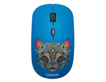 Мышь беспроводная Canyon CND-CMSW400CT, 1600dpi, Рисунок (две накладки: черный и Party Cat) CND-CMSW400CT фото
