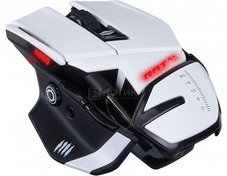 Мышь проводная Mad Catz R.A.T. 4+, USB, 7200dpi, MR03MCINWH000-0 Белый фото
