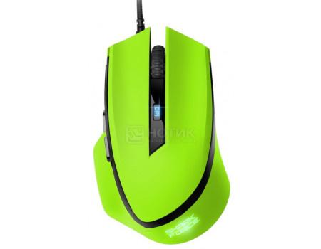 Мышь проводная Sharkoon SHARK Force green, USB, 1600dpi, SHARK-FORCE-GREEN Зеленый фото