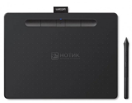 Графический планшет Wacom Intuos M Bluetooth Black, Черный CTL-6100WLK-N фото
