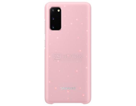 Чехол-накладка Samsung Smart LED Cover для смартфона Samsung Galaxy S20, Поликарбонат, Pink, Розовый, EF-KG980CPEGRU фото