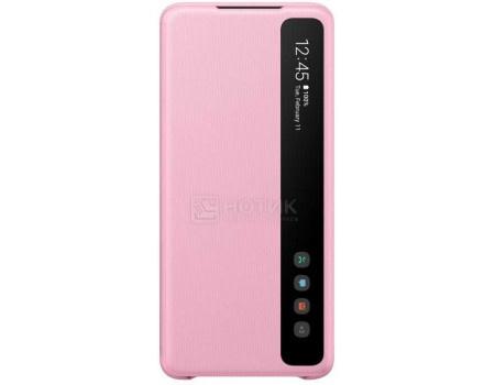 Чехол-книжка Samsung Smart Clear View Cover для смартфона Samsung Galaxy S20+ , Поликарбонат, Pink, Розовый, EF-ZG985CPEGRU фото