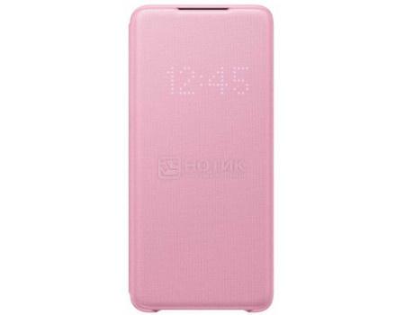 Чехол-книжка Samsung Smart LED View Cover для смартфона Samsung Galaxy S20+ , Полиуретан/Поликарбонат, Pink, Розовый, EF-NG985PPEGRU фото