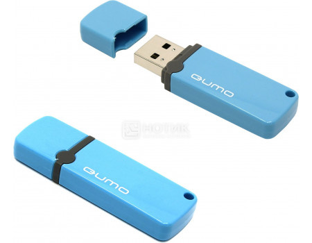 Флешка Qumo Optiva 8Gb, USB 2.0, Синий QM8GUD-OP2-blue фото