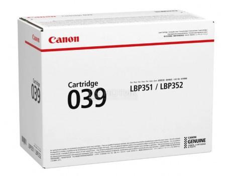 Картридж лазерный Canon 039 BK черный для Canon 0287C001