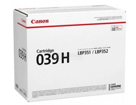 Картридж лазерный Canon 039 H BK черный для Canon 0288C001