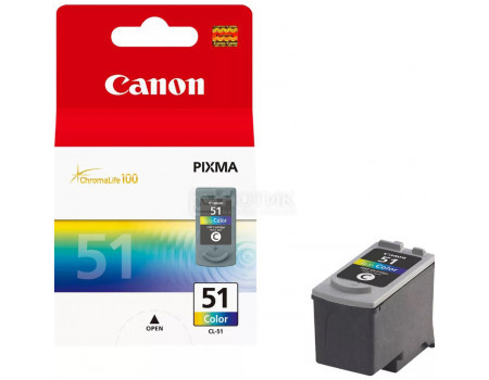 Картридж струйный Canon CL-51 многоцветный для Canon 0618B001