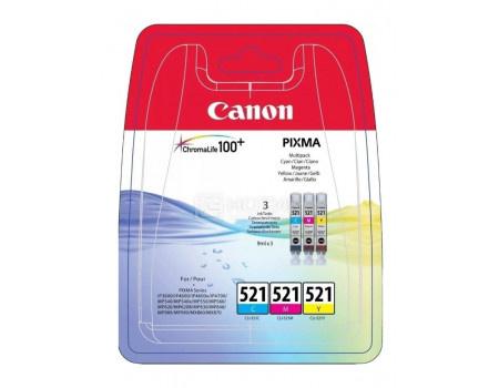 Картридж струйный Canon CLI-521 C, CLI-521 Y, CLI-521 M набор (3 картриджа) для Canon 2934B010