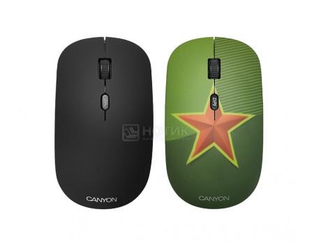 Мышь беспроводная Canyon CND-CMSW400CT, 1600dpi, Рисунок (две накладки: черный и Звезда) CND-CMSW400S фото