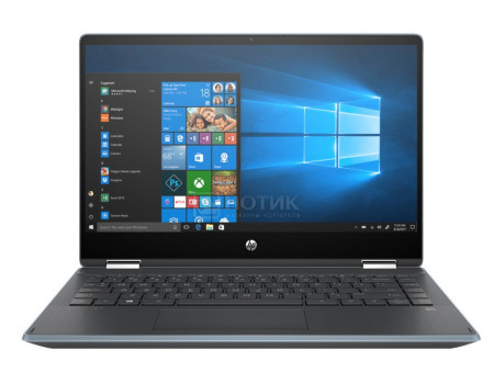 Ноутбук HP Pavilion x360 14-dh1006ur (14.00 IPS (LED)/ Core i3 10110U 2100MHz/ 4096Mb/ SSD / NVIDIA GeForce® MX130 2048Mb) MS Windows 10 Home (64-bit) [104A3EA] фото