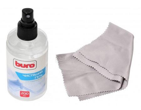 Картинка для Чистящий набор Buro для экранов и оптики, 200мл (салфетка + гель) Buro BU-GSCREEN
