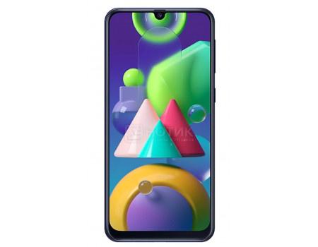 "Смартфон Samsung Galaxy M21 64Gb SM-M215F Midnight Blue (Android 10.0/Exynos 9611 2300MHz/6.40"" 2340x1080/4096Mb/64Gb/4G LTE ) [SM-M215FZBUSER]"