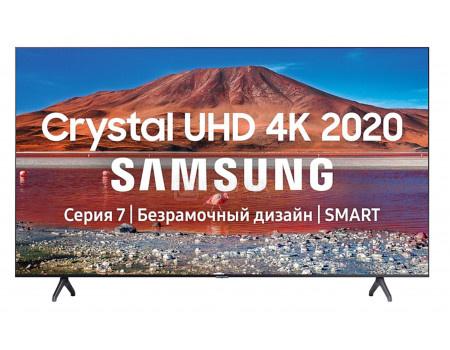 Телевизор Samsung 55 UHD, Smart TV , Звук (20 Вт (2x10 Вт)), 2xHDMI, 1xUSB, 1xRJ-45, PQI 2000. Черный UE55TU7100UXRU