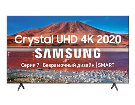 Телевизор Samsung 75 UHD, Smart TV , Звук (20 Вт (2x10 Вт)), 2xHDMI, 1xUSB, 1xRJ-45, PQI 2000. Темно-серый UE75TU7100UXRU